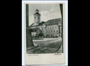 U8264/ Sorau Zary Schloßplatz AK ca.1940 Provinz Brandenburg