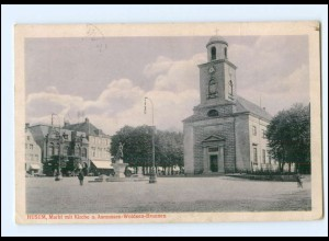 U8259/ Husum Markt mit Kirche AK 1916