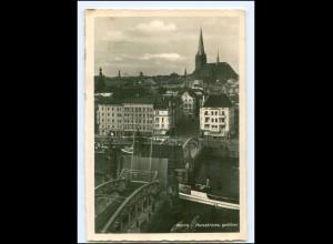 U8277/ Stettin Hansabrücke geöffnet Foto AK ca.1935 Pommern