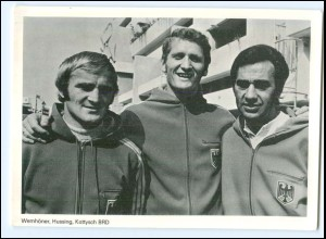 U8287/ Olympiade München 1972 Boxer Kottysch, Hussing u. Trainer Wemhöner AK