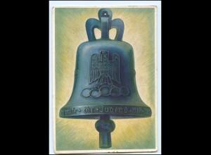 U8285/ Olympiade Berlin 1936 Olympia-Glocke AK