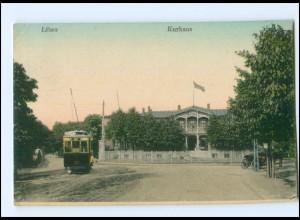 XX005880/ Libau Kurhaus Straßenbahn Lettland 1917 + Marine-Schiffspost No.99