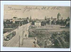 XX006091/ Posen An der Theaterbrücke Straßenbahn 1915 AK