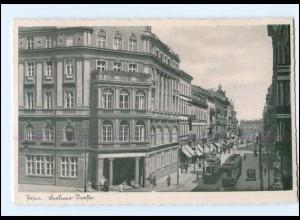 XX005884/ Posen Berliner Straße AK ca.1940 Straßenbahn