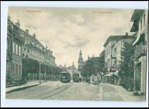 XX005788/ Warmbrunn Schloßplatz Straßenbahn AK 1905 Schlesien