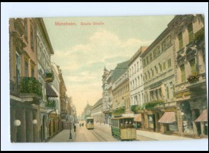 XX006050/ Mannheim Breite Straße Straßenbahn 1911 AK