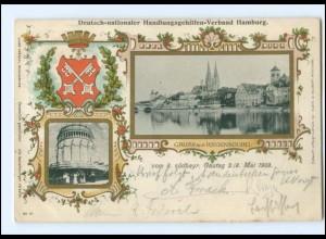 XX005909/ Regensburg Deutsch-nationaler Handlungsgehilfen-Verband AK 1903