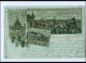 XX005997-080./ Gruß aus Zwickau 1900 Litho AK