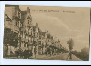 XX005872/ Swinemünde Friedrichstraße AK Litfaßsäule ca.1920