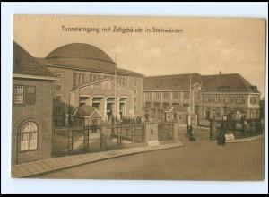 XX005865/ Hamburg Steinwerder Elbtunnle-Eingang mit Zollgebäude AK ca.1912