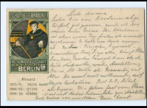 XX005857/ Berlin Schultheiss-Brauerei Litho AK Bier 1896