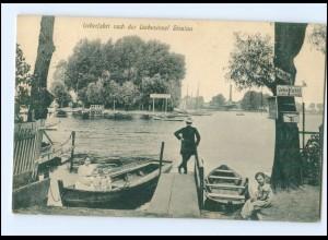 XX006073/ Berlin Überfahrt zu der Liebesinsel Stralau 1914 AK