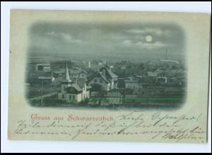 XX005891/ Gruß aus Schwarzenbek Mondschein AK ca.1900