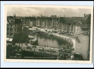 XX006084/ Ostpreußen Königsberg Krämerbrücke 1940 Foto AK