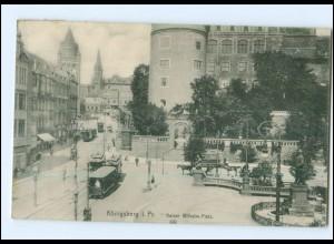 XX006094/ Ostpreußen Königsberg Kaiser Wilhelm-Platz Straßenbahn 1912 AK