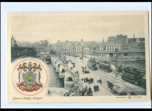 Y13585/ Glasgow Jamaica Bridge Brücke Straßenbahn Wappen AK ca.1910 Schottland