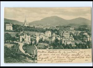 Y13913/ Baden-Baden vom Friesenberg gesehen 1905 AK