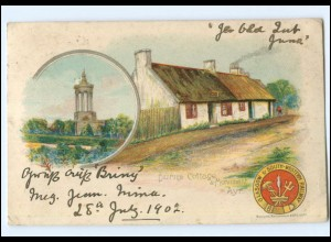 Y13596/ Glasgow South-Wetsern Railway - Burns Cottage Litho Ak 1902 Schottland