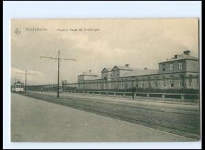 Y13552/ Middelkerke Hospice Roger de Grimberghe, Straßenbahn AK Belgien 1916