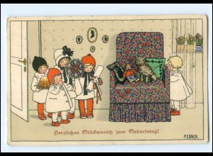 U8330/ Pauli Ebner Geburtstag Kinder Litho AK ca.1912 M.Munk