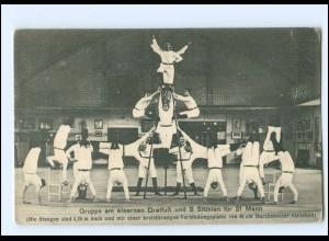 U8342/ Turnen Turner Akrobatik Männer Ak ca.1910