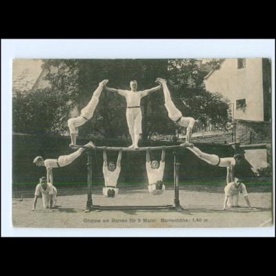 U8340/ Turnen Turner Akrobatik Männer Ak ca.1910