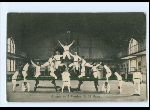U8341/ Turnen Turner Akrobatik Männer Ak ca.1910