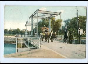 Y13876/ Rendsburg Schleuse Pferdekutsche ca.1910 AK