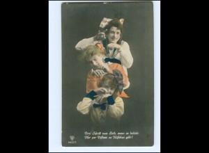 Y13608/ Drei junge Frauen schöne Foto AK ca.1912