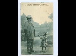 U8337/ Liliputaner Friedel, das lebende Puppchen AK 1913