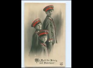 Y13547/ Kinder in Uniform 1. Weltkrieg Foto AK ca.1915 Patriotik