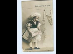 Y13607/ Mädchen Wäsche waschen NPG Foto AK 1911