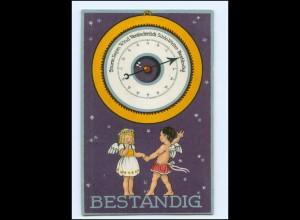 Y13697/ Herzens-Barometer Wetter Engel 1924 Litho AK