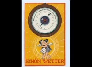 Y13696/ Herzens-Barometer Wetter Engel 1924 Litho AK