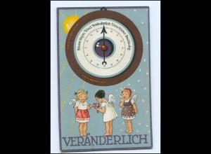 Y13698/ Herzens-Barometer Wetter Engel 1924 Litho AK