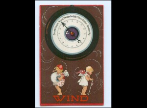 Y13699/ Herzens-Barometer Wetter Engel 1924 Litho AK