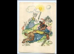 U8334/ Indanthren Reklame AK Märchen Der Wolf und die sieben Geißlein ca.1940