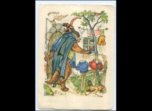 U8336/ Indanthren Reklame AK Märchen Der Wolf und die sieben Geißlein ca.1940