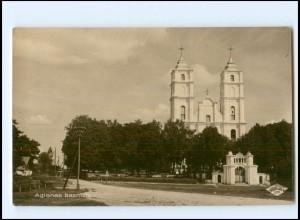 U8862/ Agionas Baznica Foto AK Lettland ca.1925