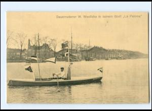 Y14078/ Dauerruderer W. Westlake Rudern 1912 AK London, Amsterdam, Hamburg usw.