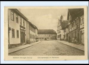 U8568-8634/ Rodach Coburgerstraße mit Marktplatz AK
