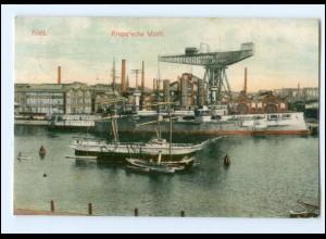 U8486/ Kiel Krupp´sche Werft 1908 AK