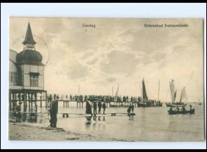 U8554/ Pommern Swinemünde Seesteg 1908 AK