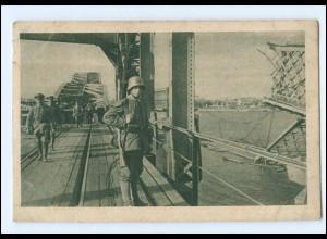 U8848/ Riga in deutschen Besitz, Eisenbahnbrücke, Soldaten, Lettland ca.1941