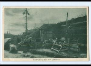 Y13798/ Unterstand Soldaten Kurland 1916/17 1. Weltkrieg AK