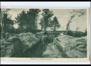 Y13794/ Kantine im Schützengraben Kurland 1916/17 1. Weltkrieg AK