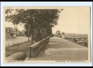 U8485/ Niendorf Strandstraße und Strandpromenade 1929 AK