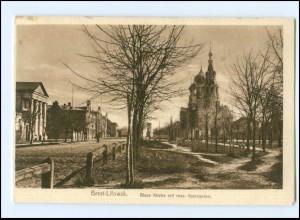 U8456/ Brest-Litowsk Blaue Kirche mit russ. Gymnasium Weißrussland AK 1917