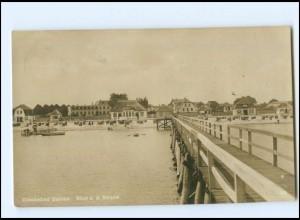 U8644/ Dahme Blick auf den Strand 1926 Foto AK