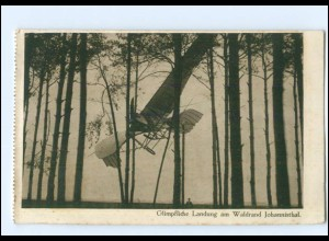 "U8853/ Berlin Johannisthal Flugzeug ""glimpfliche Landung"" AK 1915"